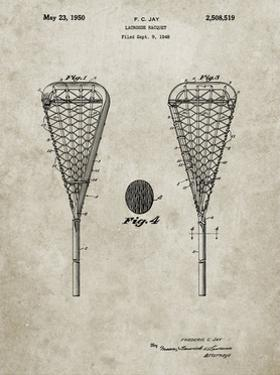 PP199- Sandstone Lacrosse Stick 1948 Patent Poster by Cole Borders