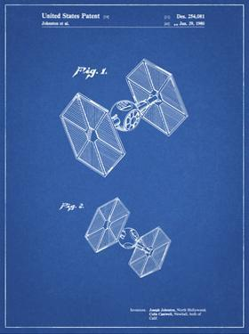 PP211-Blueprint Star Wars TIE Fighter Patent Poster by Cole Borders