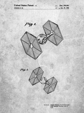 PP211-Slate Star Wars TIE Fighter Patent Poster by Cole Borders