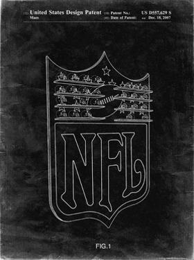 PP217-Black Grunge NFL Display Patent Poster by Cole Borders