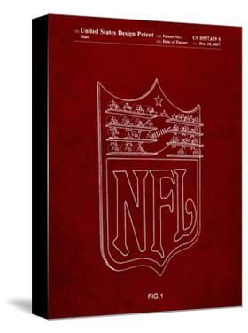 PP217-Burgundy NFL Display Patent Poster by Cole Borders