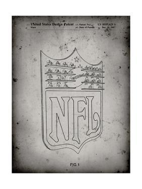 PP217-Faded Grey NFL Display Patent Poster by Cole Borders