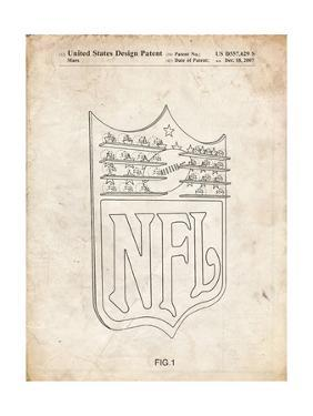 PP217-Vintage Parchment NFL Display Patent Poster by Cole Borders