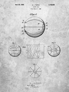 PP222-Slate Basketball 1929 Game Ball Patent Poster by Cole Borders