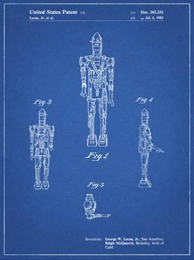 PP223-Blueprint Star Wars IG-88 Patent Poster by Cole Borders