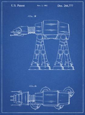 PP224-Blueprint Star Wars AT-AT Imperial Walker Patent Poster by Cole Borders