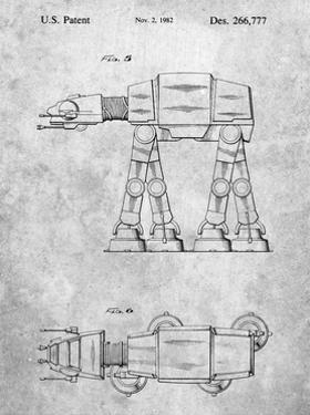 PP224-Slate Star Wars AT-AT Imperial Walker Patent Poster by Cole Borders