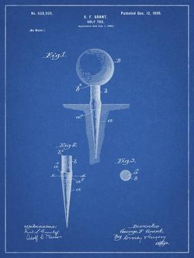 PP237-Blueprint Vintage Golf Tee 1899 Patent Poster by Cole Borders