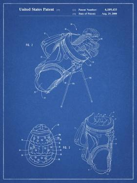 PP239-Blueprint Golf Walking Bag Patent Poster by Cole Borders