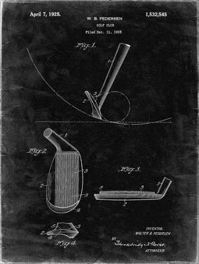 PP240-Black Grunge Golf Wedge 1923 Patent Poster by Cole Borders