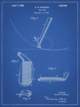 PP240-Blueprint Golf Wedge 1923 Patent Poster by Cole Borders