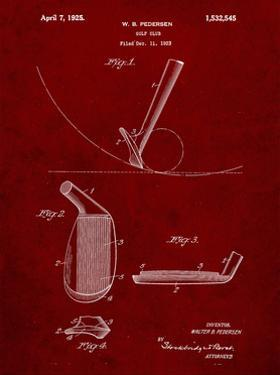 PP240-Burgundy Golf Wedge 1923 Patent Poster by Cole Borders
