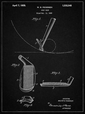 PP240-Vintage Black Golf Wedge 1923 Patent Poster by Cole Borders