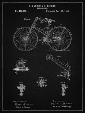 PP248-Vintage Black Bicycle 1890 Patent Poster by Cole Borders