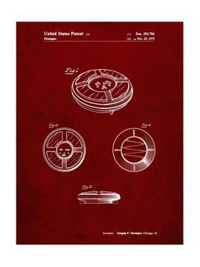 PP253-Burgundy Simon Patent Poster by Cole Borders