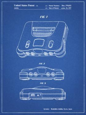 PP276-Blueprint Nintendo 64 Patent Poster by Cole Borders