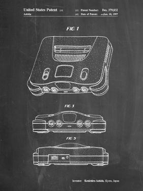 PP276-Chalkboard Nintendo 64 Patent Poster by Cole Borders