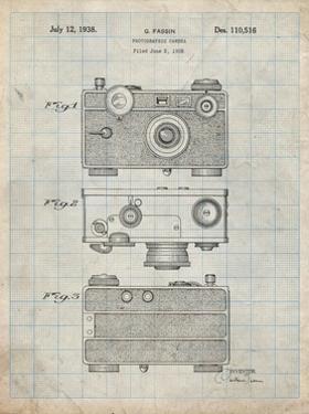 PP299-Antique Grid Parchment Argus C Camera Patent Poster by Cole Borders