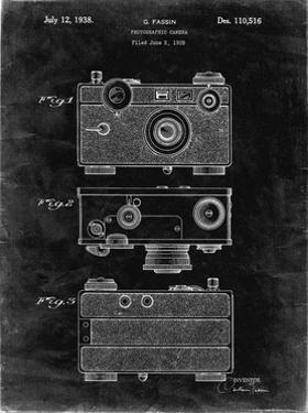 PP299-Black Grunge Argus C Camera Patent Poster by Cole Borders
