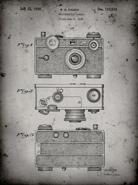 PP299-Faded Grey Argus C Camera Patent Poster by Cole Borders