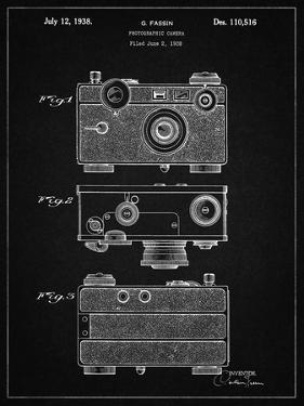 PP299-Vintage Black Argus C Camera Patent Poster by Cole Borders