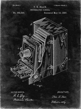 PP301-Black Grunge Lucidograph Camera Patent Poster by Cole Borders