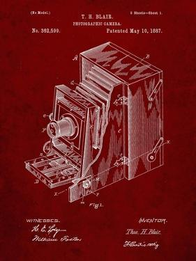 PP301-Burgundy Lucidograph Camera Patent Poster by Cole Borders
