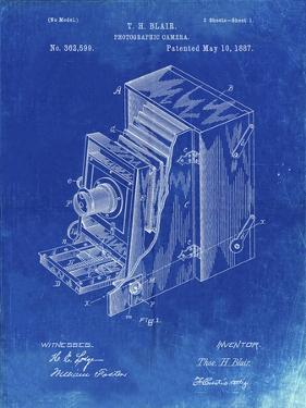 PP301-Faded Blueprint Lucidograph Camera Patent Poster by Cole Borders