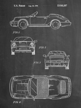 PP305-Chalkboard Porsche 911 Carrera Patent Poster by Cole Borders