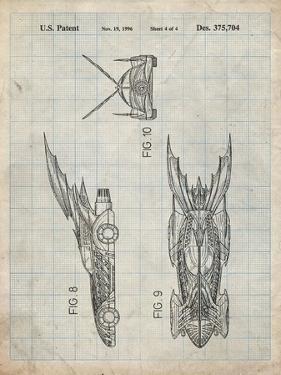 PP311-Antique Grid Parchment Batman and Robin Batmobile Patent Poster by Cole Borders