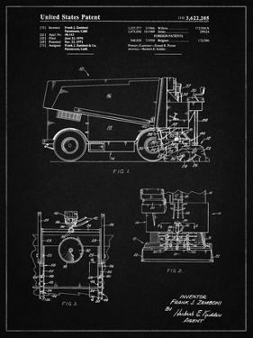 PP313-Vintage Black Ice Resurfacing Patent Poster by Cole Borders