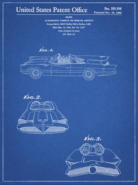 PP316-Blueprint Batman TV Batmobile Patent Poster by Cole Borders