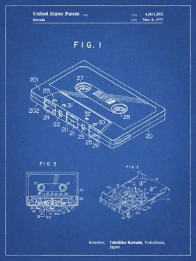 PP319-Blueprint Cassette Tape Patent Poster by Cole Borders