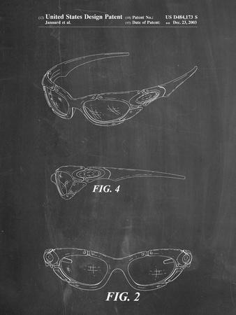 PP324-Chalkboard Oakley Sunglasses Patent Poster