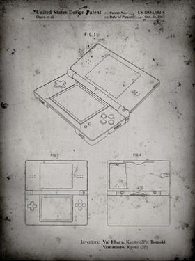PP346-Faded Grey Nintendo DS Patent Poster by Cole Borders