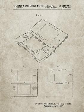 PP346-Sandstone Nintendo DS Patent Poster by Cole Borders
