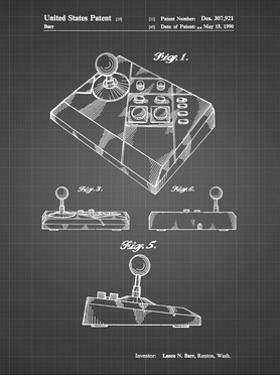 PP374-Black Grid Nintendo Joystick Patent Poster by Cole Borders