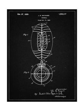 PP379-Vintage Black Football Game Ball 1925 Patent Poster by Cole Borders