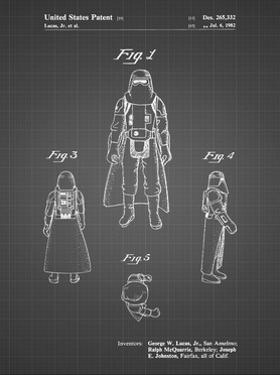 PP380-Black Grid Star Wars Snowtrooper Patent Poster by Cole Borders