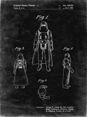 PP380-Black Grunge Star Wars Snowtrooper Patent Poster by Cole Borders