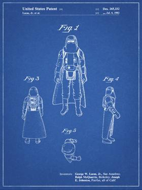 PP380-Blueprint Star Wars Snowtrooper Patent Poster by Cole Borders