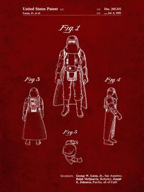 PP380-Burgundy Star Wars Snowtrooper Patent Poster by Cole Borders
