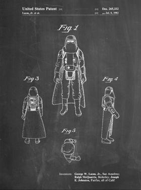 PP380-Chalkboard Star Wars Snowtrooper Patent Poster by Cole Borders