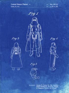 PP380-Faded Blueprint Star Wars Snowtrooper Patent Poster by Cole Borders
