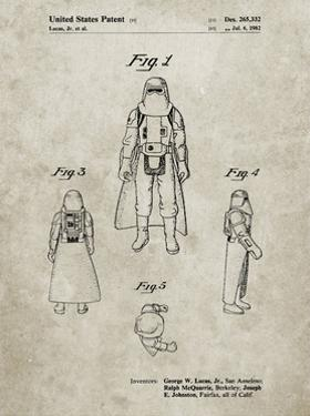 PP380-Sandstone Star Wars Snowtrooper Patent Poster by Cole Borders