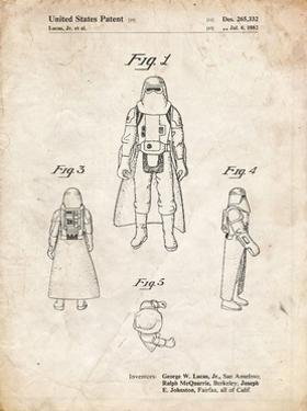PP380-Vintage Parchment Star Wars Snowtrooper Patent Poster by Cole Borders