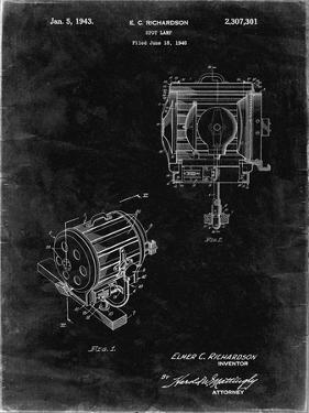 PP387-Black Grunge Movie Set Lighting Patent Poster by Cole Borders