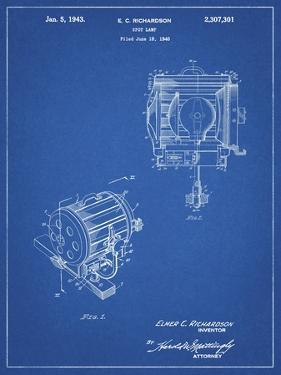 PP387-Blueprint Movie Set Lighting Patent Poster by Cole Borders