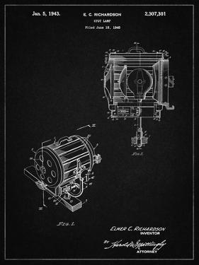 PP387-Vintage Black Movie Set Lighting Patent Poster by Cole Borders