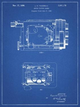 PP390-Blueprint Motion Picture Camera 1932 Patent Poster by Cole Borders